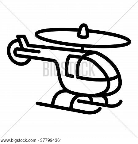 Toy Helicopter Icon. Outline Toy Helicopter Vector Icon For Web Design Isolated On White Background