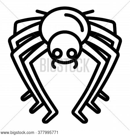 Bug Spider Icon. Outline Bug Spider Vector Icon For Web Design Isolated On White Background
