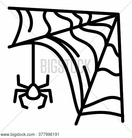 Small Spider Icon. Outline Small Spider Vector Icon For Web Design Isolated On White Background