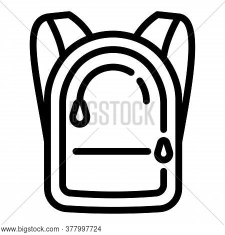 Zipper Backpack Icon. Outline Zipper Backpack Vector Icon For Web Design Isolated On White Backgroun