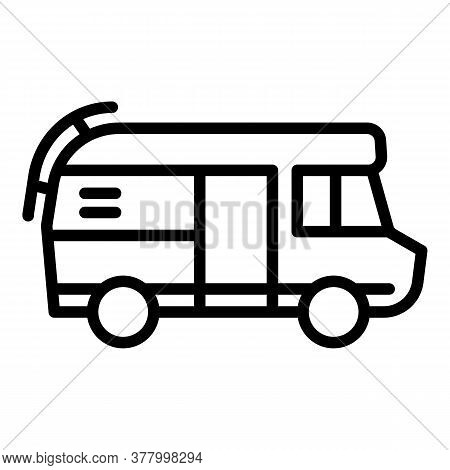 Rv Motorhome Icon. Outline Rv Motorhome Vector Icon For Web Design Isolated On White Background