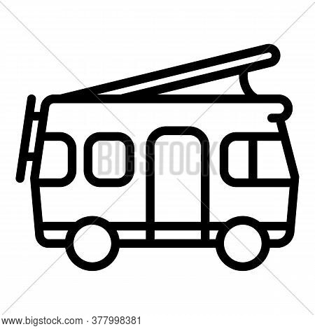 Modern Motorhome Icon. Outline Modern Motorhome Vector Icon For Web Design Isolated On White Backgro
