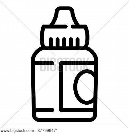 Electronic Cigarette Liquid Icon. Outline Electronic Cigarette Liquid Vector Icon For Web Design Iso