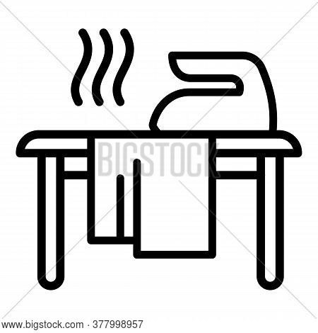 Iron On Board Icon. Outline Iron On Board Vector Icon For Web Design Isolated On White Background