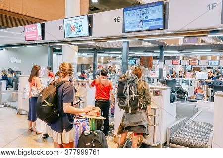 Don Muang Airport, Thailand - Nov 22, 2018: Check-in Counter Of Airasia At The Terminal(t1) Of Don M