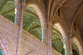 Sandstone arches and vaults at the cathedral poster