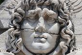 Medusa Gorgon in Apollo Temple - Didyma in Aydin, Turkey poster