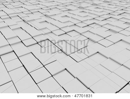 grey blocky 3d floor