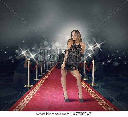 Celebrity On Red Carpet