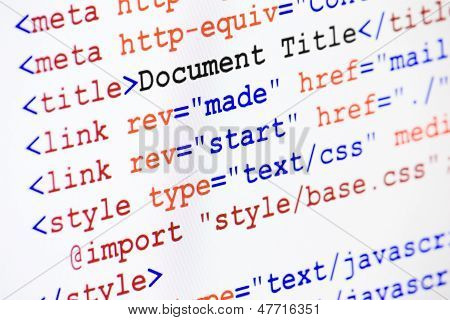 Html Web Page Source Code With Document Title
