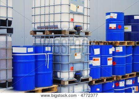 Barrel On Pallet