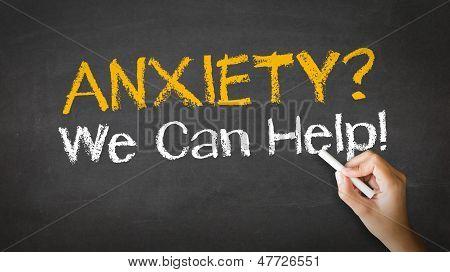 Ilustração do giz ansiedade podemos ajudar