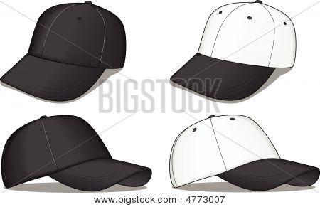 Black And White Baseball Caps