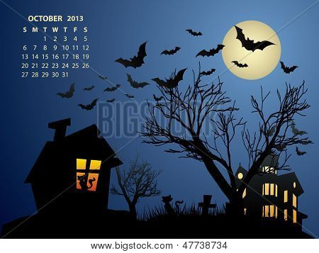 October Calendar - Halloween