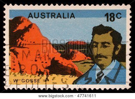 AUSTRALIA - CIRCA 1976: A stamp printed in Australia shows William Gosse, circa 1976
