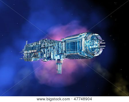 Alien Spacecraft in Space