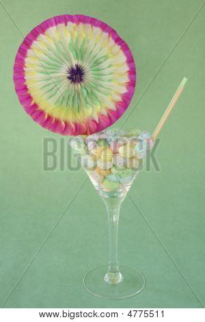Jelly Bean Martini Celebration On Green