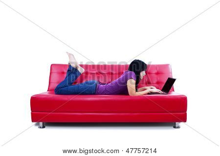 Leisure Time With Laptop