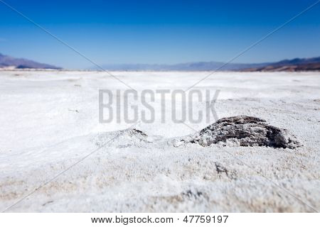Dry Salt Pan In Death Valley