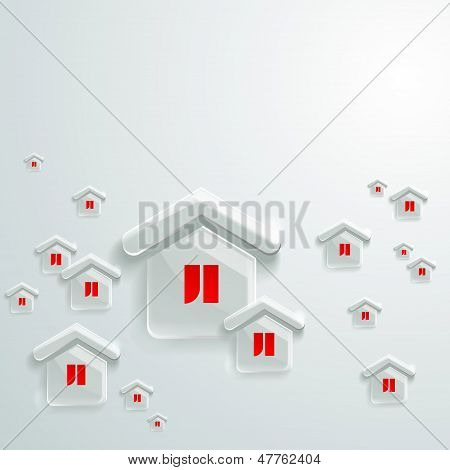 Vector Background Of A House. Abstract