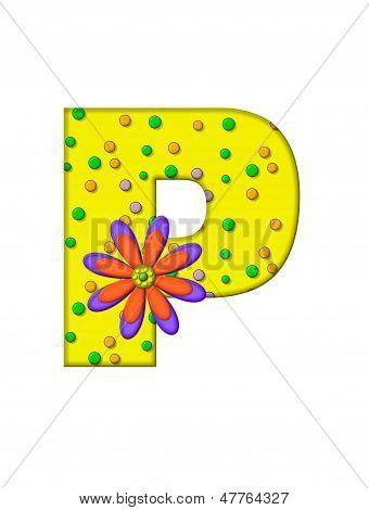 Alphabet Zany Dots P