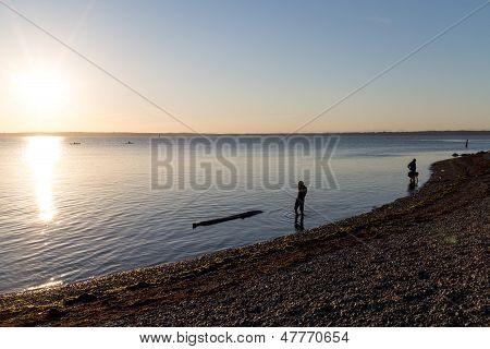 Bellingham Bay Sunset-sandy Beach