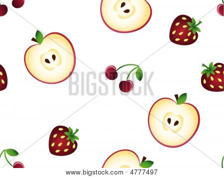 Seamless Pattern With Fruits.