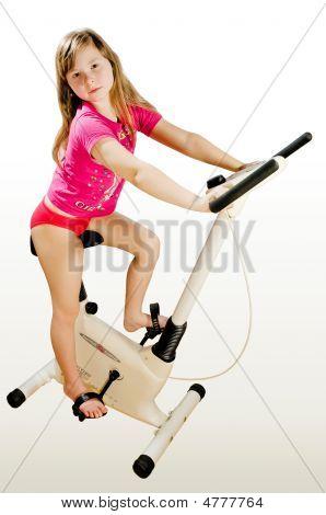 The Girl On A Velosimulator