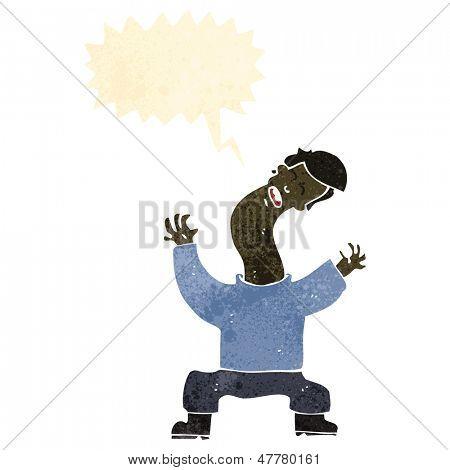 retro cartoon man with cricked neck poster