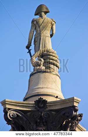 Admiral Nelson Statue On Nelson's Column
