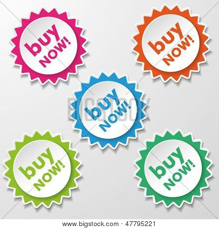 Buy Now Colorful Star Paper Labels