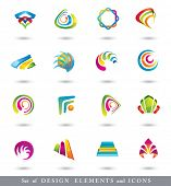 Abstract Design Elements . Collection with icons for abstract logo. poster