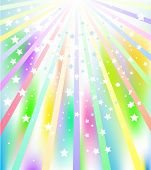 Illustration of colorful star burst abstract background poster