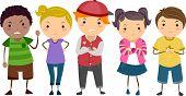 Illustration of Stickman Kids School Bullies poster