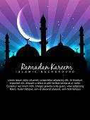 vector ramadan kareem background with space for your text poster