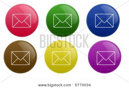 Glossy Mail Button