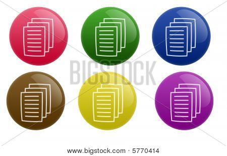 Glossy Document Button