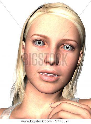 Head Shot Woman Talking
