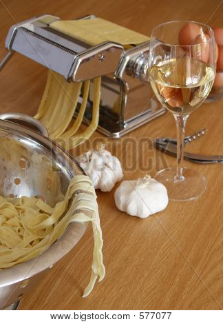 Homemade Pasta With Wine
