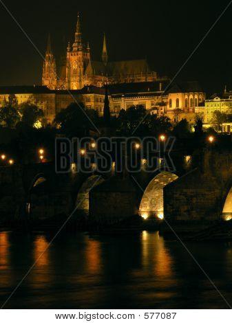 Prague Castle With Charles Bridge