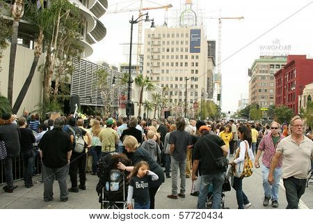 Atmosphere at the ceremony posthumously honoring George Harrison with a star on the Hollywood Walk of Fame. Vine Boulevard, Hollywood, CA. 04-14-09