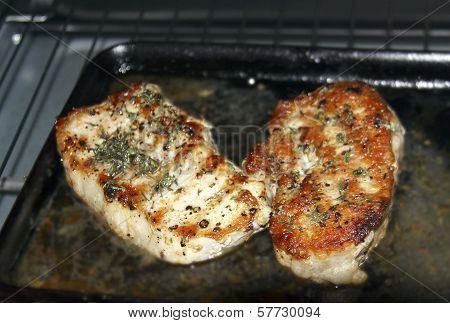 Pork Steaks with Rosemary