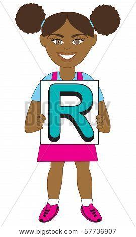 Letter R Girl