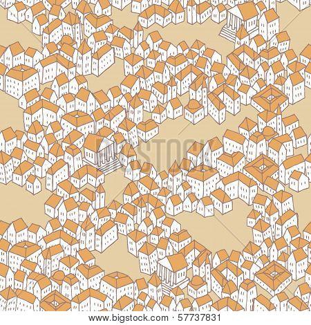 Old City Seamless Pattern