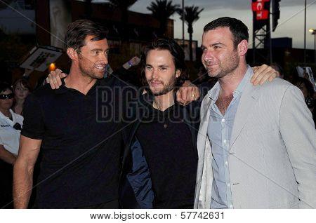 Hugh Jackman with Taylor Kitsch and Liev Schreiber  at the United States Premiere of 'X-Men Origins Wolverine'. Harkins Theatres, Tempe, AZ. 04-27-09