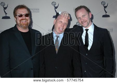 R.J. Cutler with John Chinn and Morgan Spurlock at the Second Television Academy Honors Gala. Beverly Hills Hotel, Beverly Hills, CA. 04-30-09