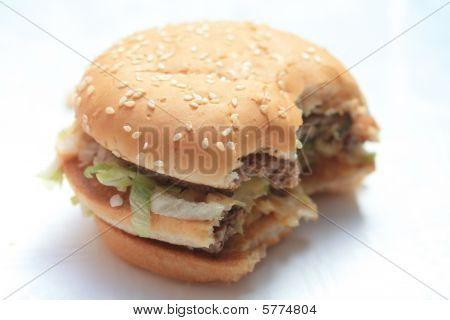 A big hamburger