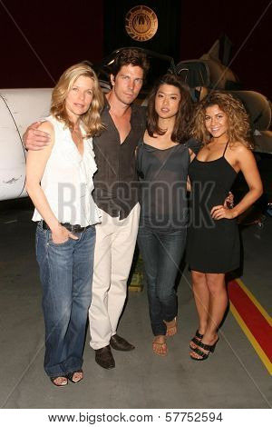 Kate Vernon and Michael Trucco with Grace Park and Luciana Carro at 'Battlestar Galactica' Auction Preview Day and Actor Panel. Pasadena Convention Center, Pasadena, CA. 05-07-09