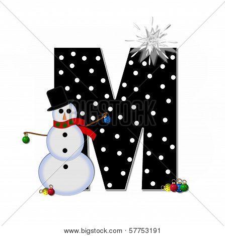Alphabet Frosty M