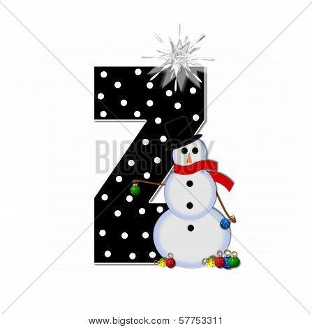 Alphabet Frosty Z